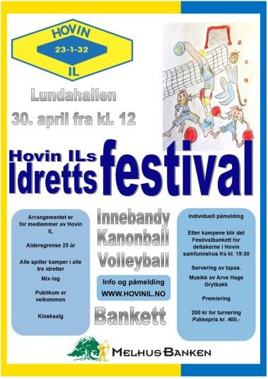 Idrettsfestivalen på Hovin 2016